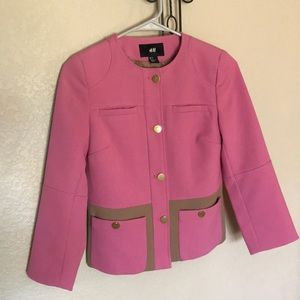 H&M NWOT pink/brown blazer